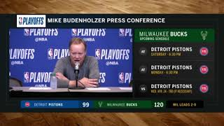 Coach Bud on the Bucks' adjustments at halftime of Game 2