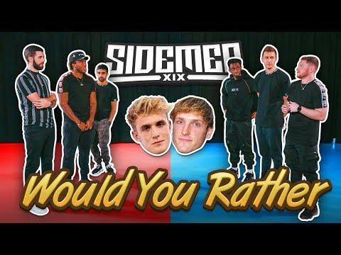 JAKE PAUL OR LOGAN PAUL? - SIDEMEN WOULD YOU RATHER