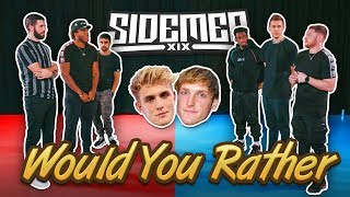 JAKE PAUL OR LOGAN PAUL? - SIDEMEN WOULD YOU RATHER 2