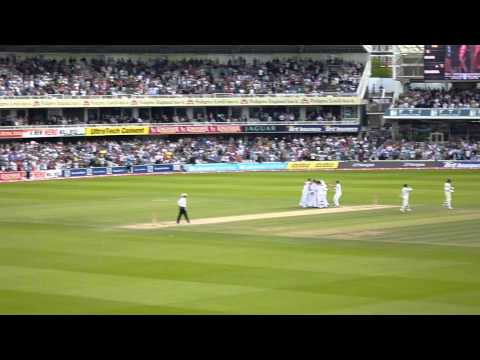England v India July 25 2011 - Final Wicket - Ishant Sharma