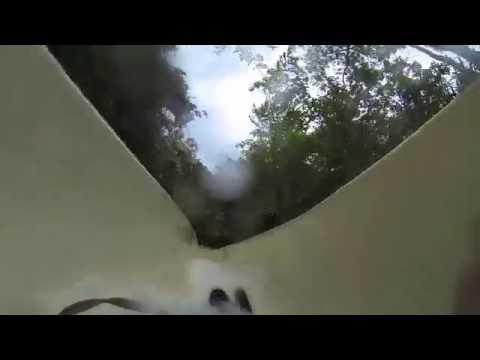 Water slide at Xplor