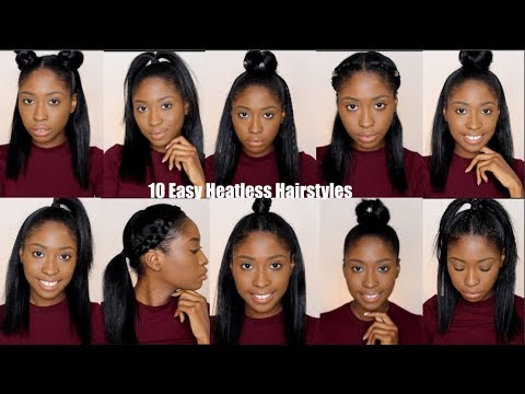 10 Simple Quick And Easy Heatless Hairstyles For Straight Natural