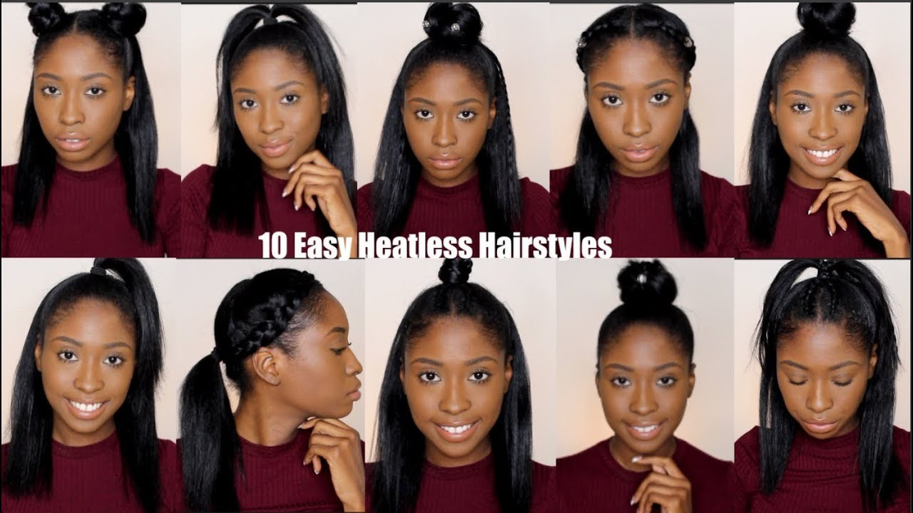 11 Simple Quick and Easy Heatless Hairstyles For Straight Natural Hair