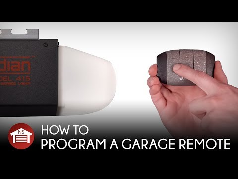 How To Program A Garage Door Opener Remote W/ Learn Button