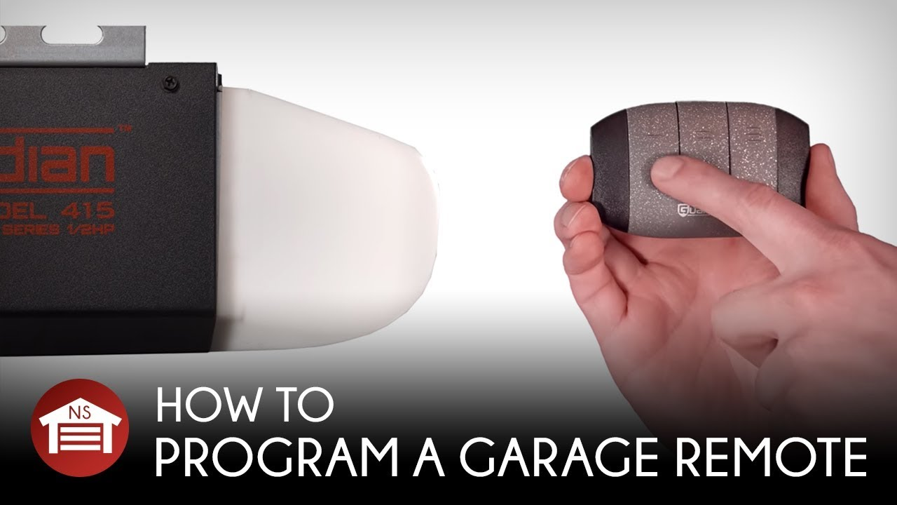 Garage Door Opener Remote Set Up How To Program A Garage Door Opener Remote W Learn Button