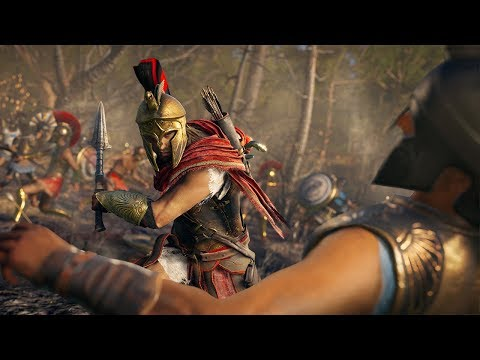 Assassin's Creed Odyssey: Using New Combat Abilities in a Massive Battle - E3 2018