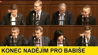 Babiš důvěru NEDOSTAL / Vypjatá diskuze v PSČR /  2.část