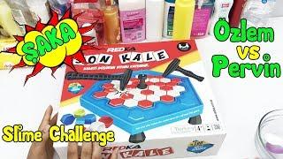 Özlem ve Pervin'e Şaka! Eğlenceli ve Komik Slime Challenge - Çok Korktular VakVakTV