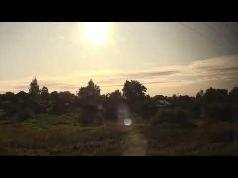 От Кирова до Перми вид из окна поезда