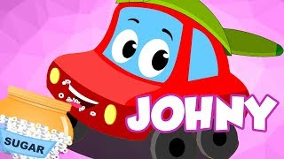 Johnny Johnny | Little Red Car | Cartoon Song For Children | Kindergarten Video For Toddlers