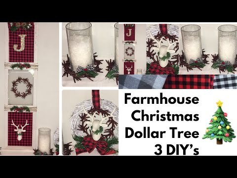 Dollar Tree Deer & Antler Ornament 3 DIY's!