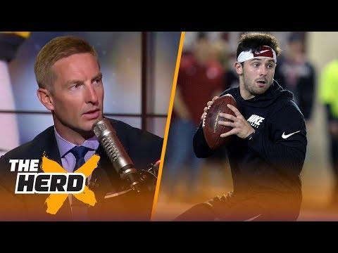 Joel Klatt weighs in on the Johnny Manziel/Baker Mayfield comparisons, talks mock draft | THE HERD