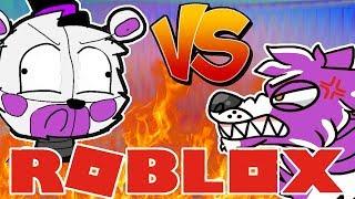 Funtime Foxy VS Funtime Freddy Roblox Animatronic World