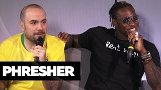 Phresher On Working w/ Eminem, Desiigner + Are Thick Heels The New Thing?