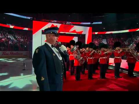 Lyndon Slewidge performs Canadian Anthem @ 2012 NHL ASG