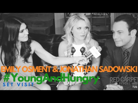 Behind the s with Emily Osment & Jonathan Sadowski on the Set of Young & Hungry Season 3