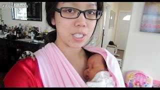 Newborn twins are hard work! - April 15, 2014 - itsjudyslife daily vlog