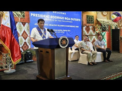 PRESIDENT DUTERTE GRACES THE ASIA-PACIFIC HEALTHY ISLANDS CONFERENCE 2018