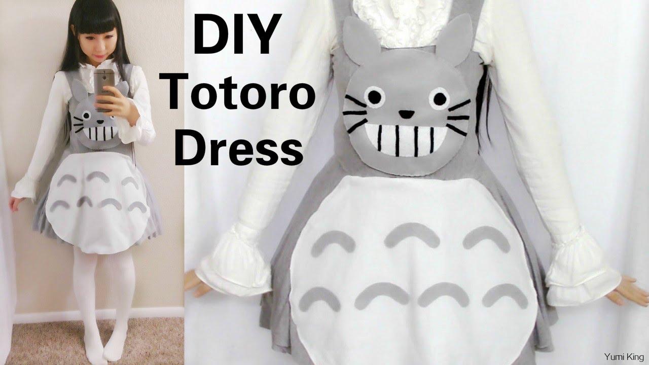 sc 1 st  YouTube & DIY: Totoro Inspired Dress   Easy Halloween Costume DIY 2015 - YouTube