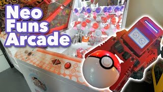 Robot Pokemon arcade game and Pokemon claw machines at NeoFuns arcade!