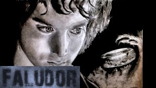 Frodo - The One Ring - Realistic Timelapse drawing/Speed painting