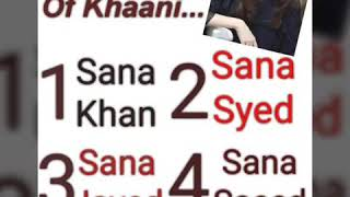 What is the real Name of Khaani...?