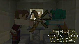 Minecraft StarWars: Han Shoots First Scene Recreation