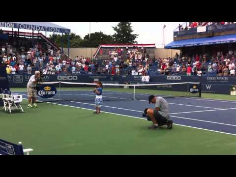 Kaitlyn Maher - 7yo - National Anthem at Legg Mason Tennis Tourney - 8/2/2011
