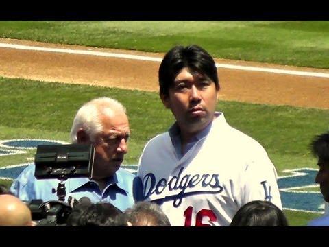 Hideo Nomo at Dodger Stadium Today 2013-8-10 - 1080p HD