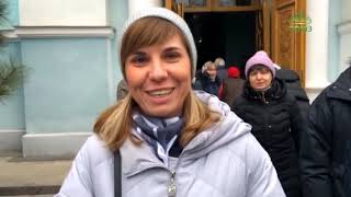 Богослужение в храме Рождества Пресвятой Богородицы на Слободке в Одессе.