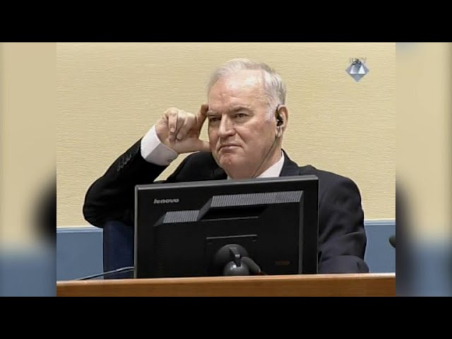 Mladic, condenado a cadena perpetua