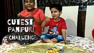 GOLGAPPA CHALLENGE AMONG 8-10 YR KIDS |cutest pani puri challenge!!!!!! kids eating golgappa |