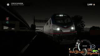 Вечерний рейс на Amtrak в TSW