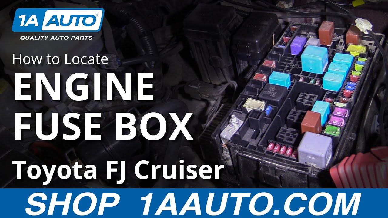 [DIAGRAM_38DE]  How to Locate Engine Fuse Box 07-14 Toyota FJ Cruiser - YouTube | 2007 Toyota Fj Cruiser Fuse Box |  | YouTube