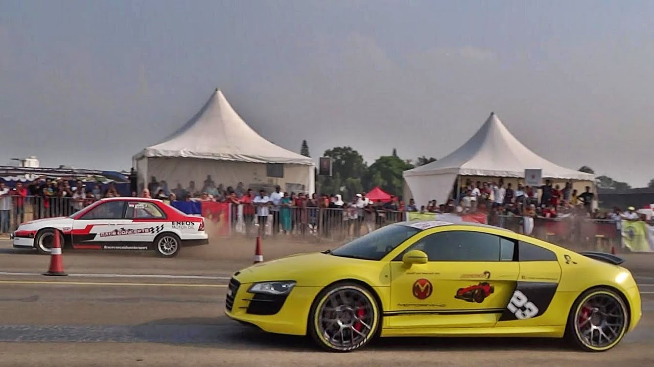 Supercars Drag Race In Bangalore Vroom India Youtube