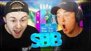 FIFA 18: 98 BUFFON SQUAD BUILDER BATTLE COMEBACK vs Gamerbrother