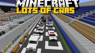 Minecraft: FLANS CARS MOD (Race Cars, Police Cars and More) With Over 50 New Cars - Mod Showcase