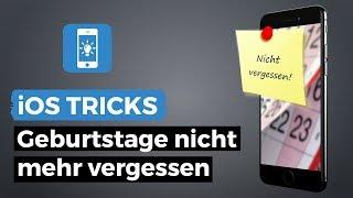 Geburtstage im Kalender einblenden und erinnern lassen | iPhone-Tricks.de