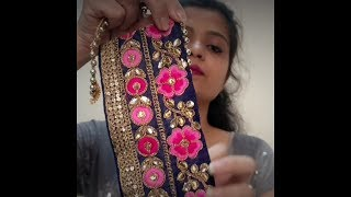 Buy Online Designer Laces and How to Design Your Own Saree by using these Laces