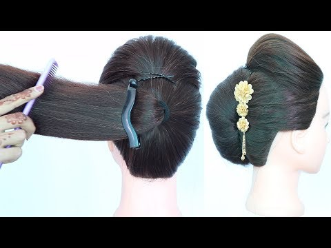 easy-french-roll-hairstyle-using-banana-clutcher-||-french-twist-||-french-bun-||-summer-hairstyles