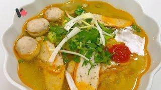 Cách Làm Bột Bánh Canh - Cách Làm Chả Cá -  Nấu Bánh Canh Chả Cá - How to Make Fish Cake Noodle Soup