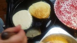 Buttermilk Pancakes ~Homemade Syrup
