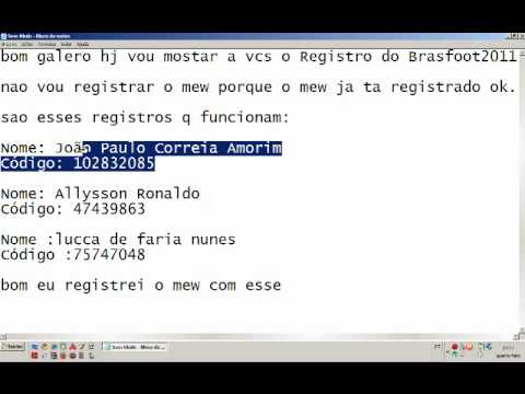 o registro do brasfoot 2011