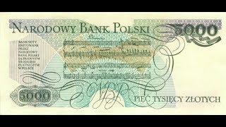 Банкноты Польши 5000 злотых 1982 Фридерик Шопен Fryderyk Chopin Banknot Polska 5000 Zł 1982
