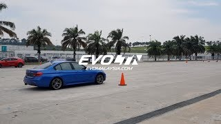 2019 Mazda 3 vs BMW 330e vs A250 Slalom Handling | Evomalaysia com