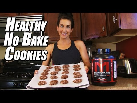 How To Make HIGH PROTEIN No-Bake Cookies! | Cooking With Kara | Tiger Fitness