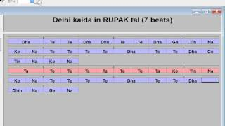 Delhi kaida exercise  in rupak tal (7 beats)