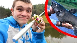 Mini Pen Fishing Rod Catfishing Challenge!
