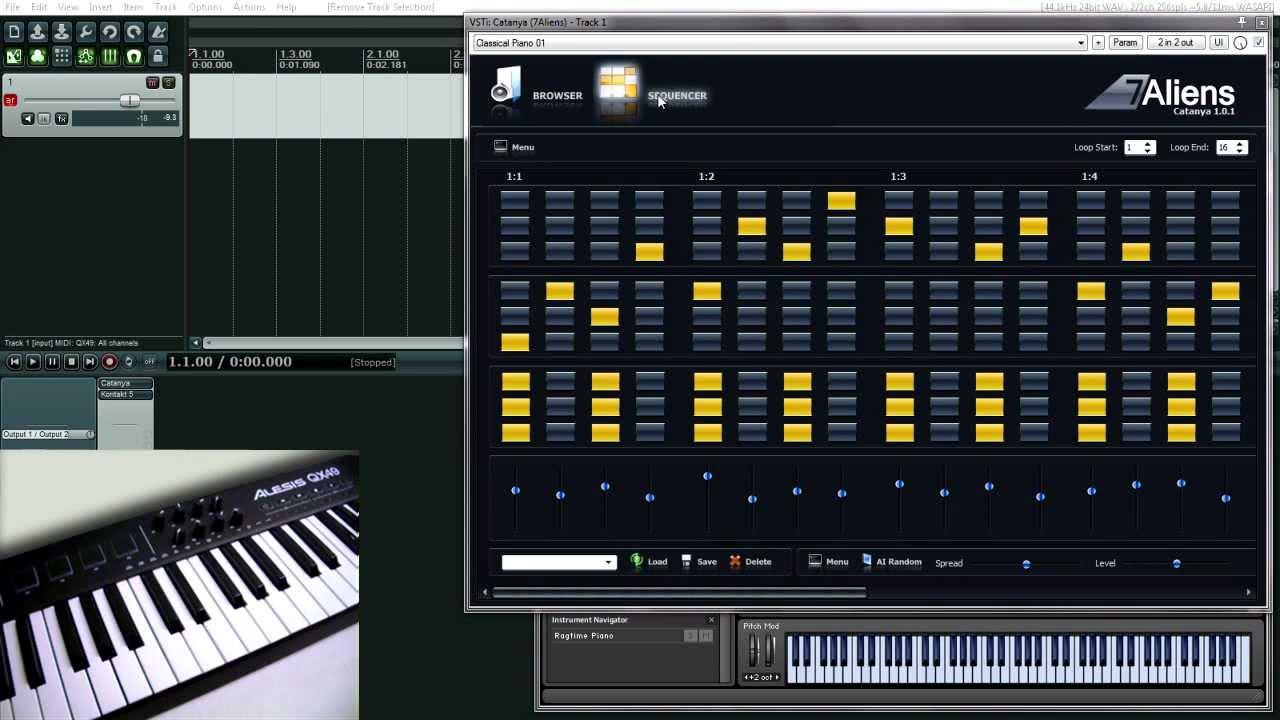 Catanya VST MIDI Arpeggiator Plugin Overview - YouTube