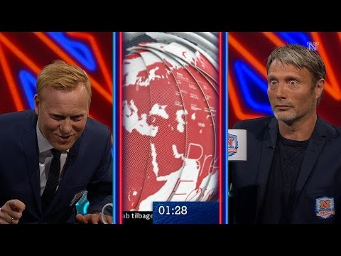 Mads Mikkelsen Wins Stare Contest on Danish Late Night Talk Show